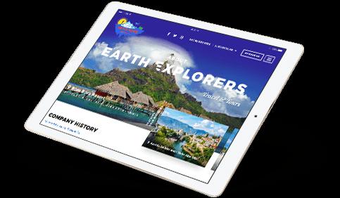Responsive Website iPad Landscape