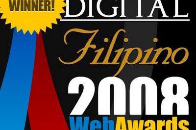 Syntactics Wins the 2008 Digitalfilipino.com Web Awards