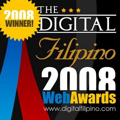 Syntactics Wins the 2008 Digitalfilipino.com Web Awards
