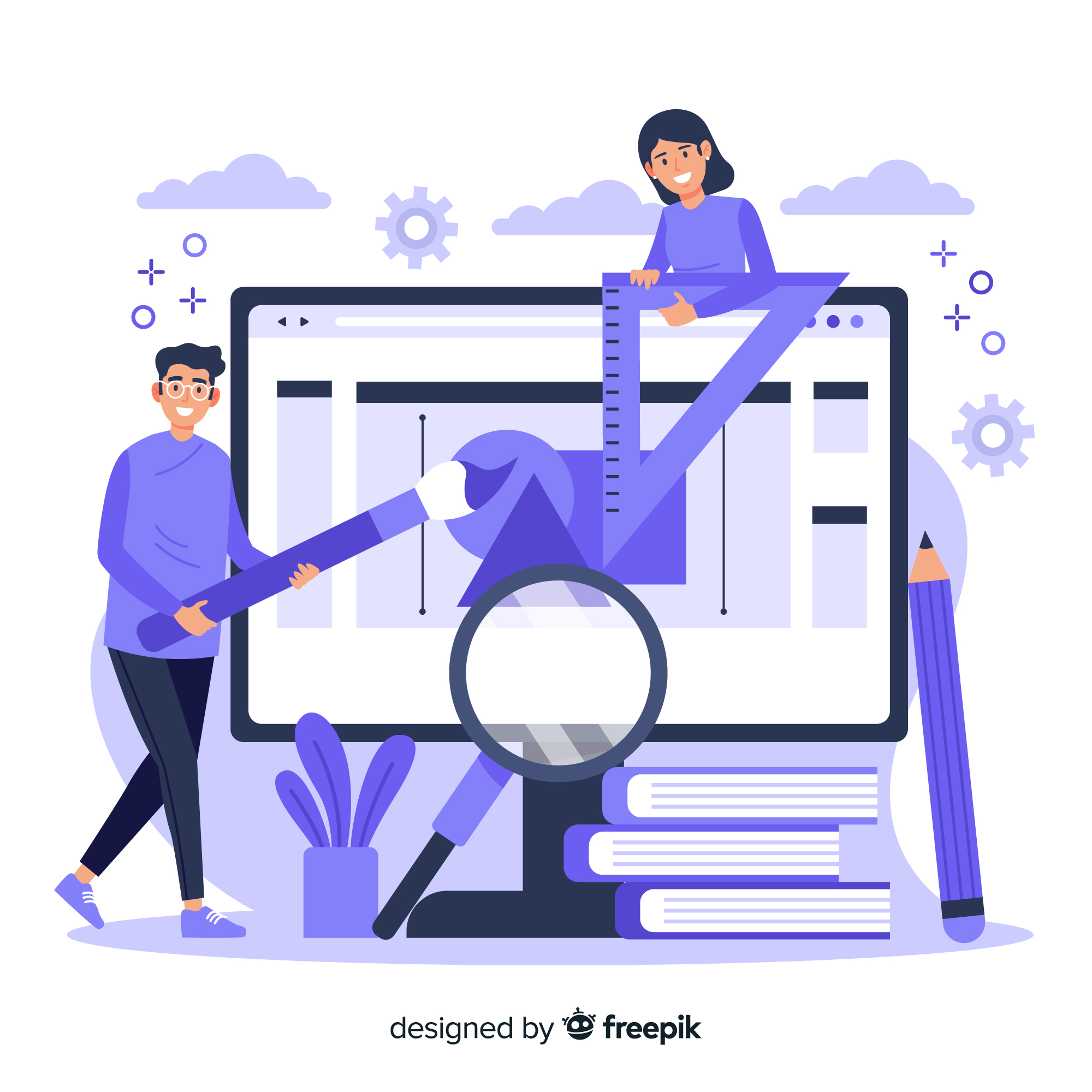 Professional Web Designing for Online Business Success Male and Female Web Designers