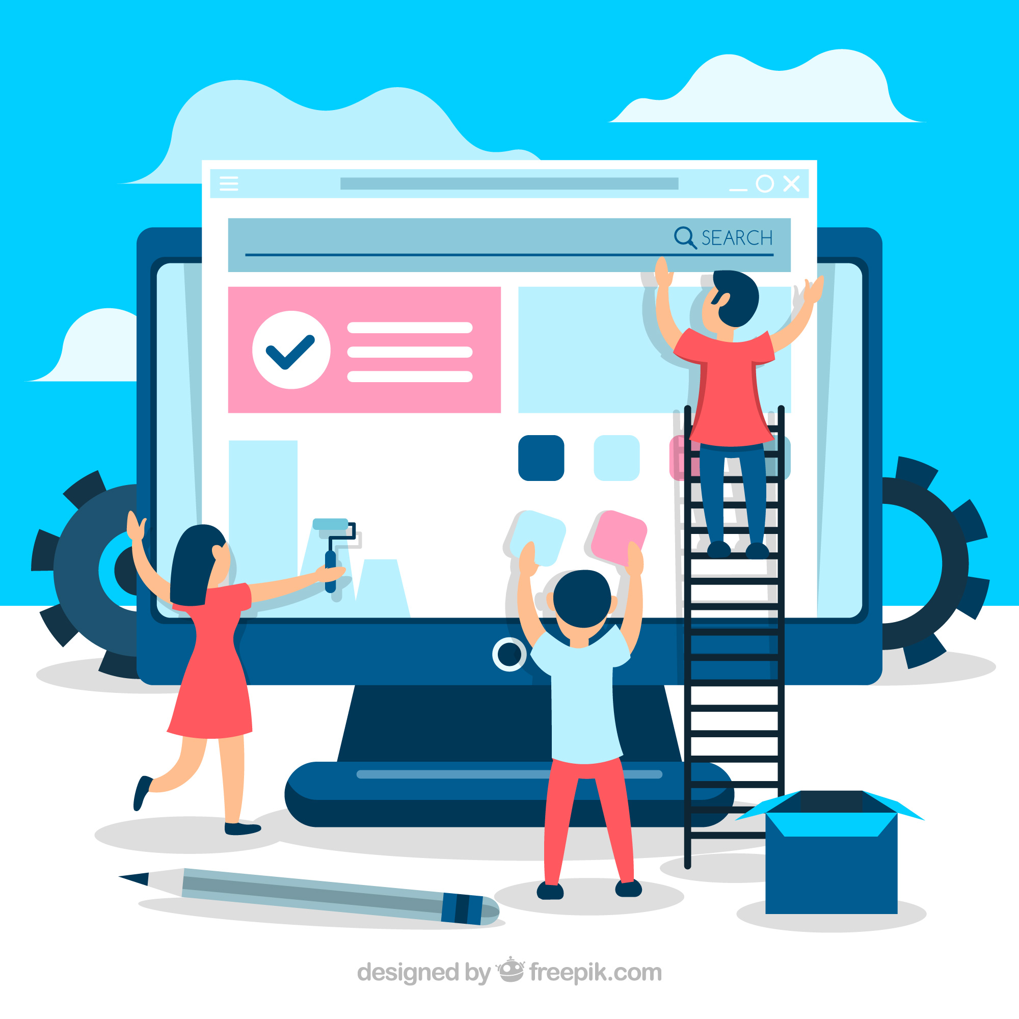 Professional Web Designing for Online Business Success Web Designers Working On Web Page