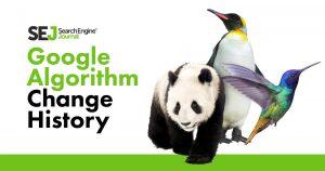 Google Algorithm History Change