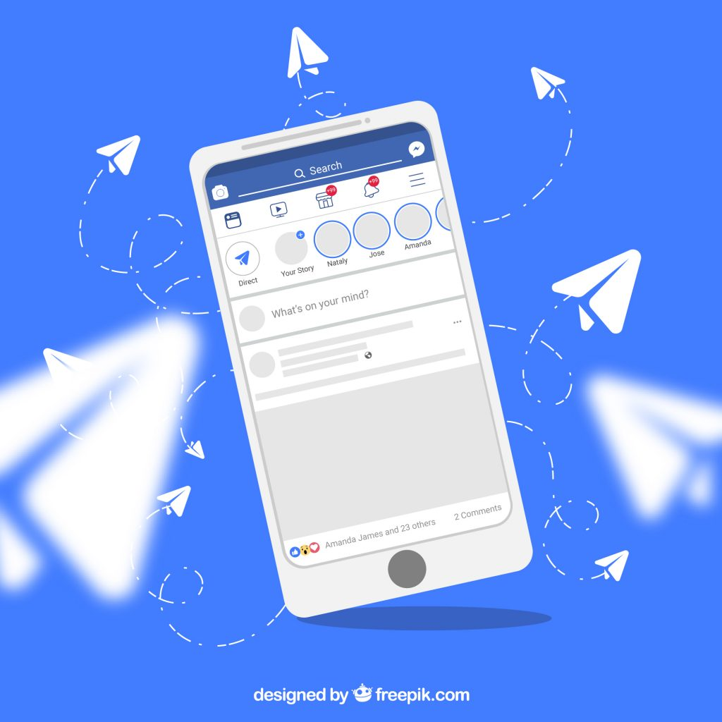 Comparing Facebook Pages And Personalized Websites Facebook App On Smartphone