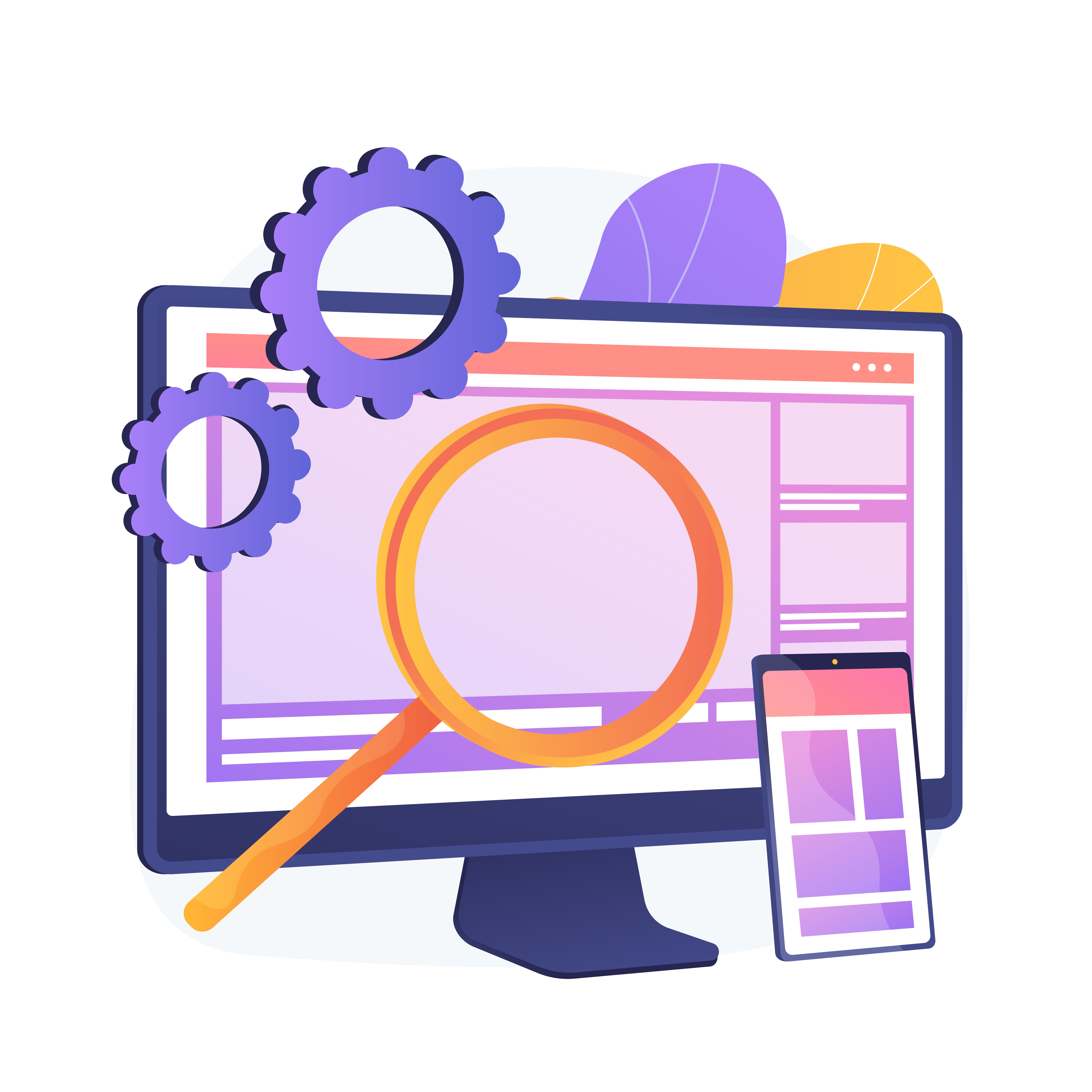 Benefits of Having a Mobile Version for Your Website Magnifying Glass on Desktop and Mobile Website