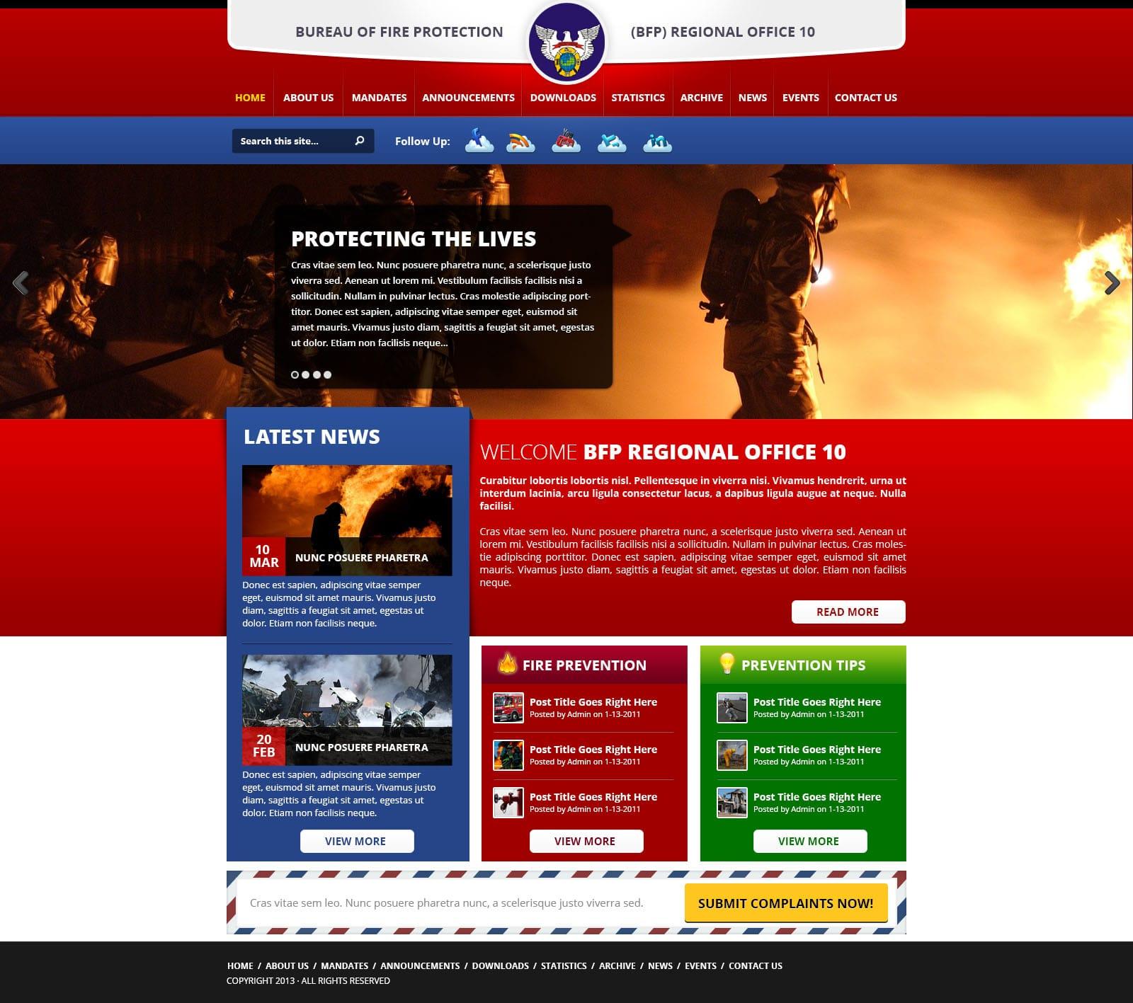 Bureau of Fire Protection Regional Headquarters 10