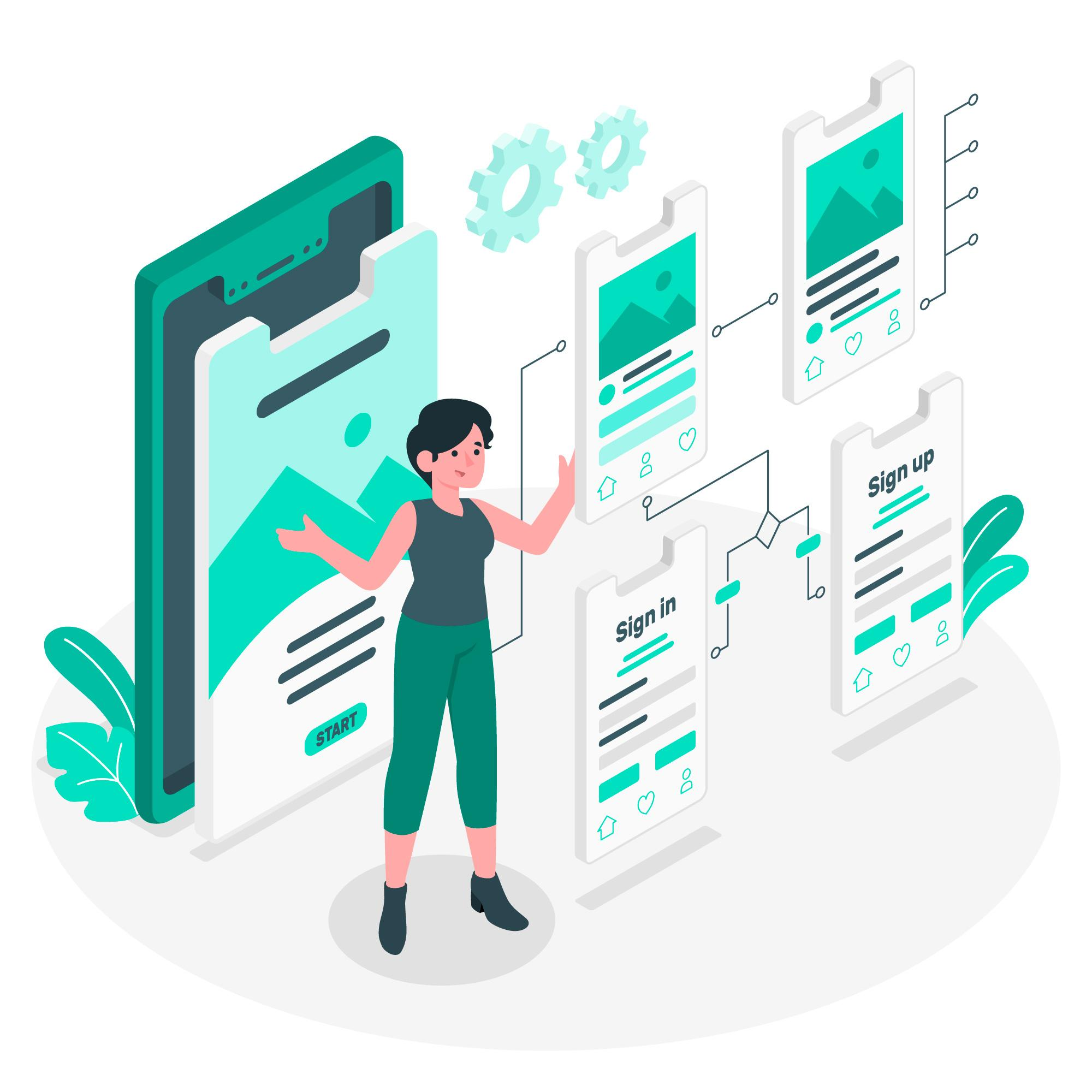 What You Must Know About User Experience User Flow Concept Illustration