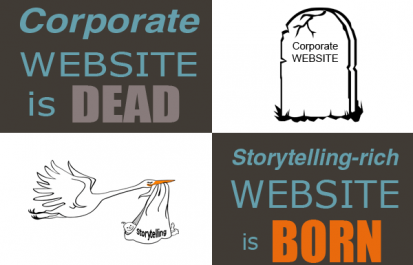 Corporate Website is OUT, Storytelling-rich Website is IN