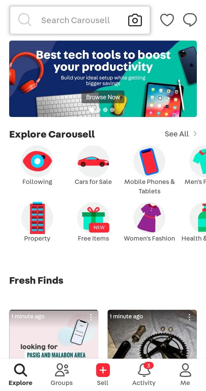 Carousell How the Website-Mobile App Combination Works Carousell Mobile App