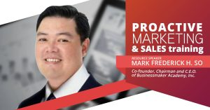 Proactive Marketing and Sales Training