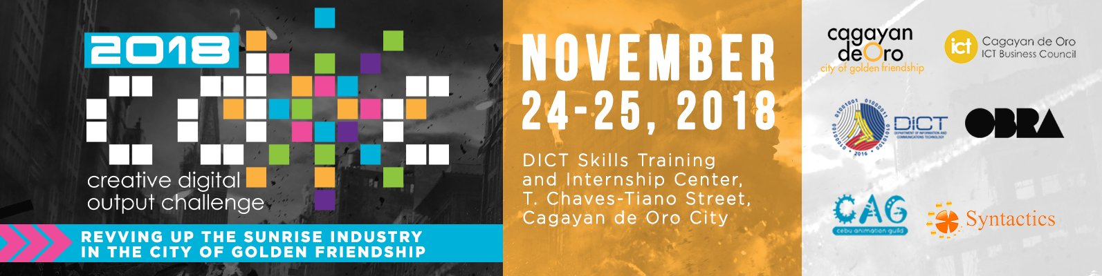 2018 Creative Digital Output Challenge Contest hosted by DICT and sponsored by Syntactics, OBRA, and CAG