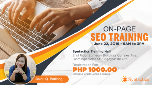 On page SEO Event
