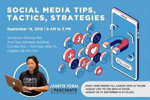 Social Media Tips, Tactics, Strategies