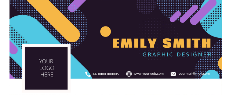 example of graphic designer's Facebook cover banner