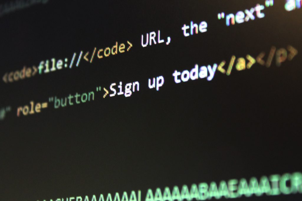 code for call to action on web page