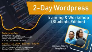 2 day wordpress workshop