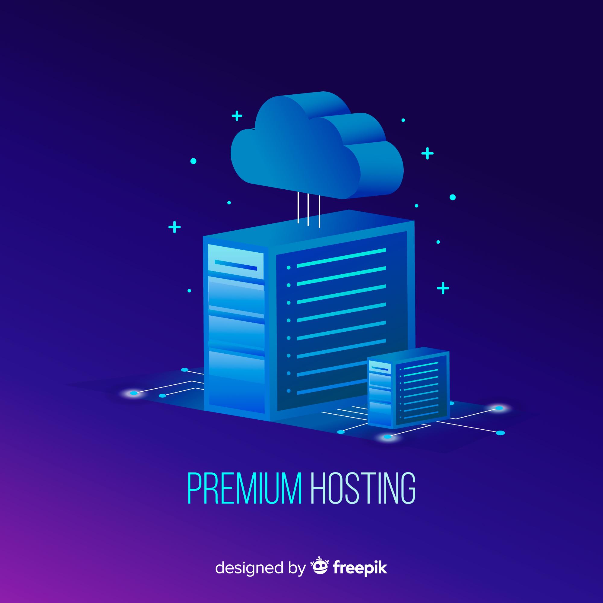 illustration of data server with premium or paid ssl hosting