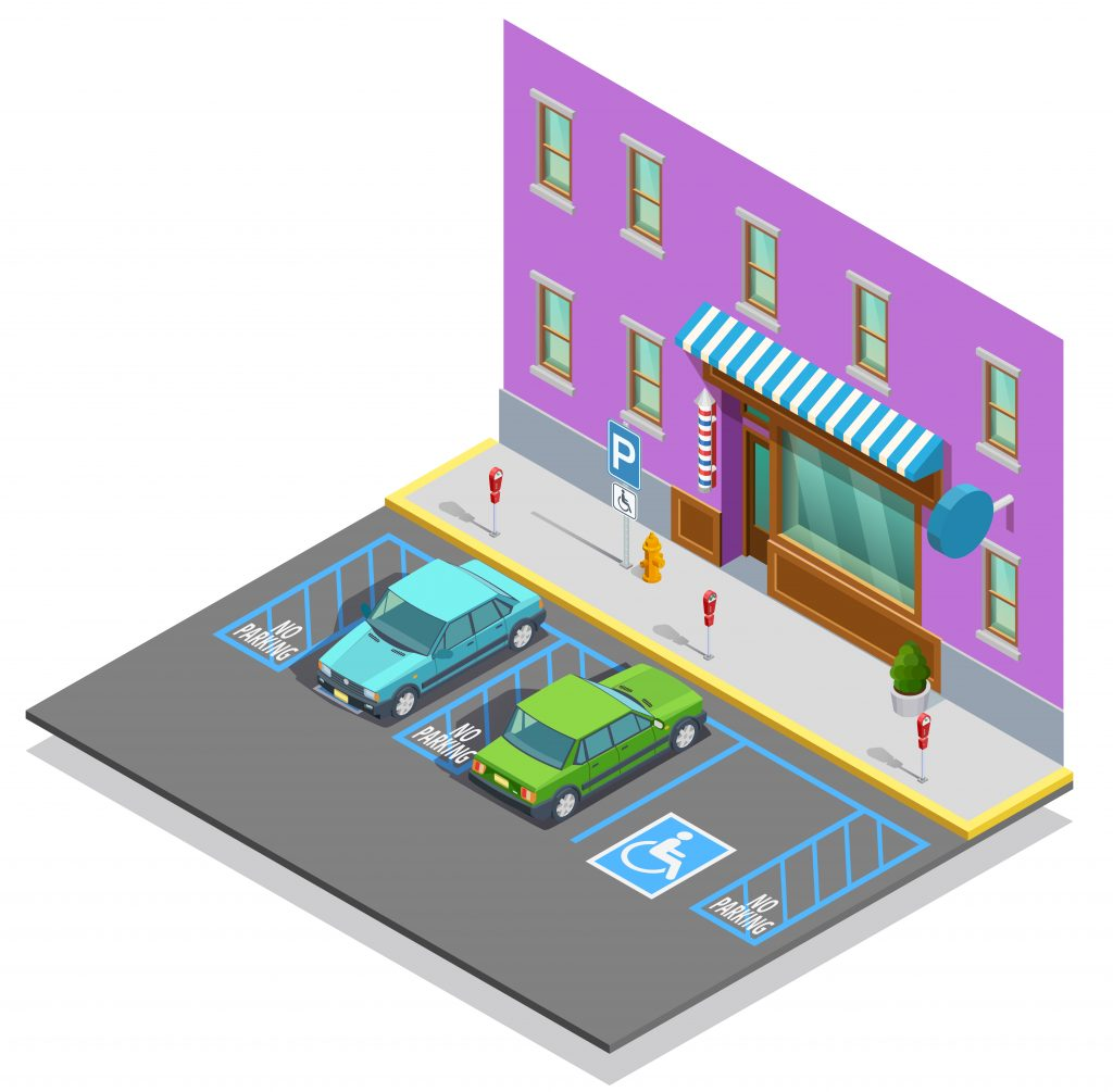 illustration of parking space for person with disability