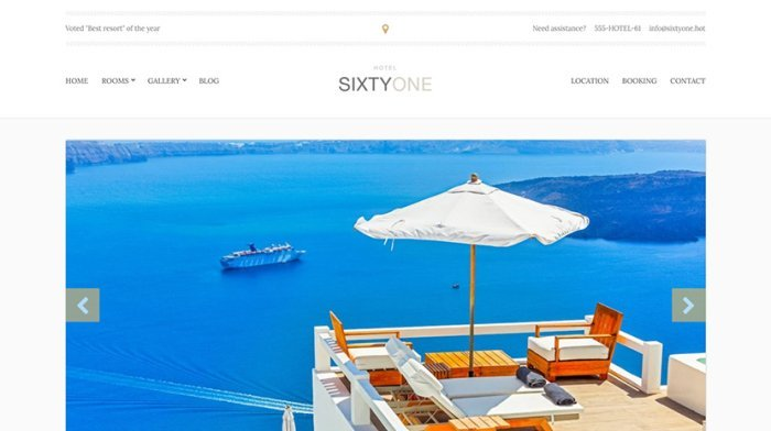 sixtyone hotel theme for website