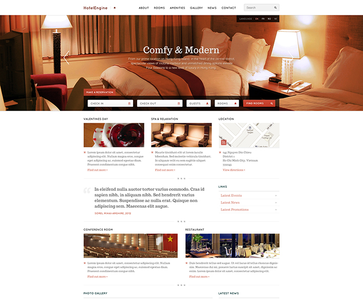 hotelengine comfy theme for wordpress