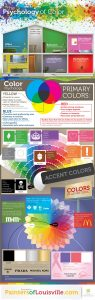 infographic of colors to guide the design creation of email marketing campaigns