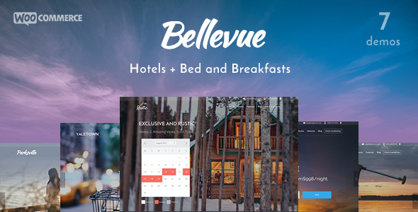 bellevue wordpress hospitality theme sample