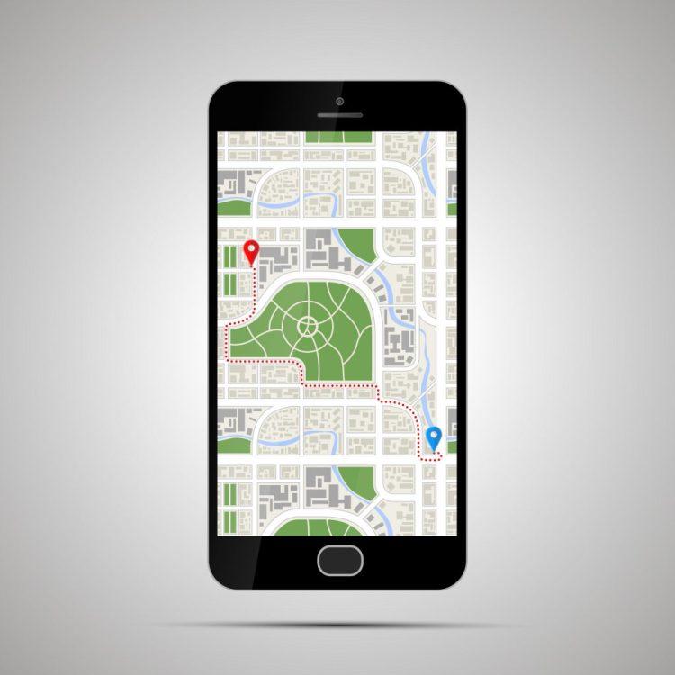 illustration of google maps layout