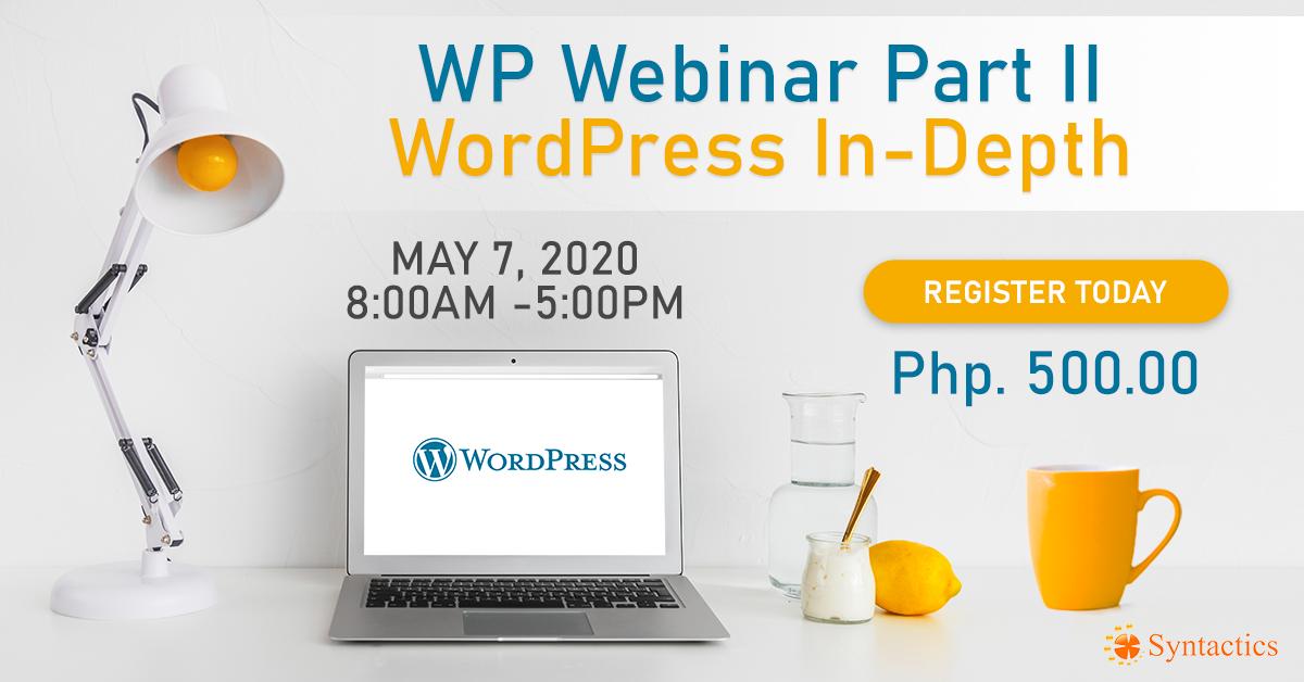WordPress In-depth Webinar