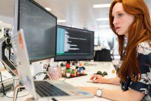 woman software developer