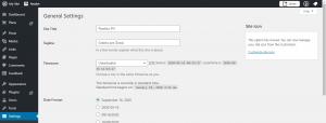 WordPress Website Development Customize Site Information