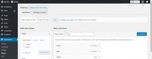 WordPress Website Development Customize Navigation Bar