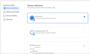 Select Business Page