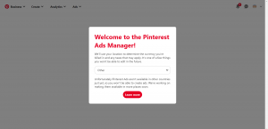 Create Pinterest Ads Pinterest Ads Manager