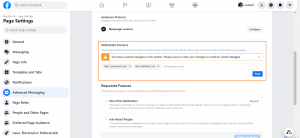Add FB Messenger to Your Website Whitelist Domains