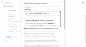 Update Google Analytics Tag Google Analytics Terms of Services Agreement
