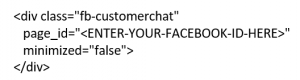 Add FB Messenger to Your Website Open Live Chat Box by Default