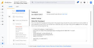 Update Google Analytics Tag Redirected to Tracking Code