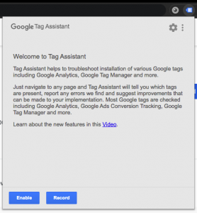 Update Google Analytics Tag Enable Google Tag Assistant