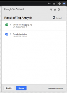 Update Google Analytics Tag Check Tag Analysis Results