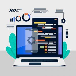 business application software laptop web developer custom software packaged software