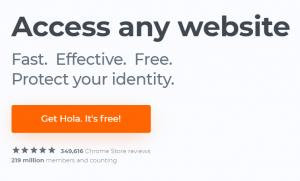 Google Chrome Extension Hola