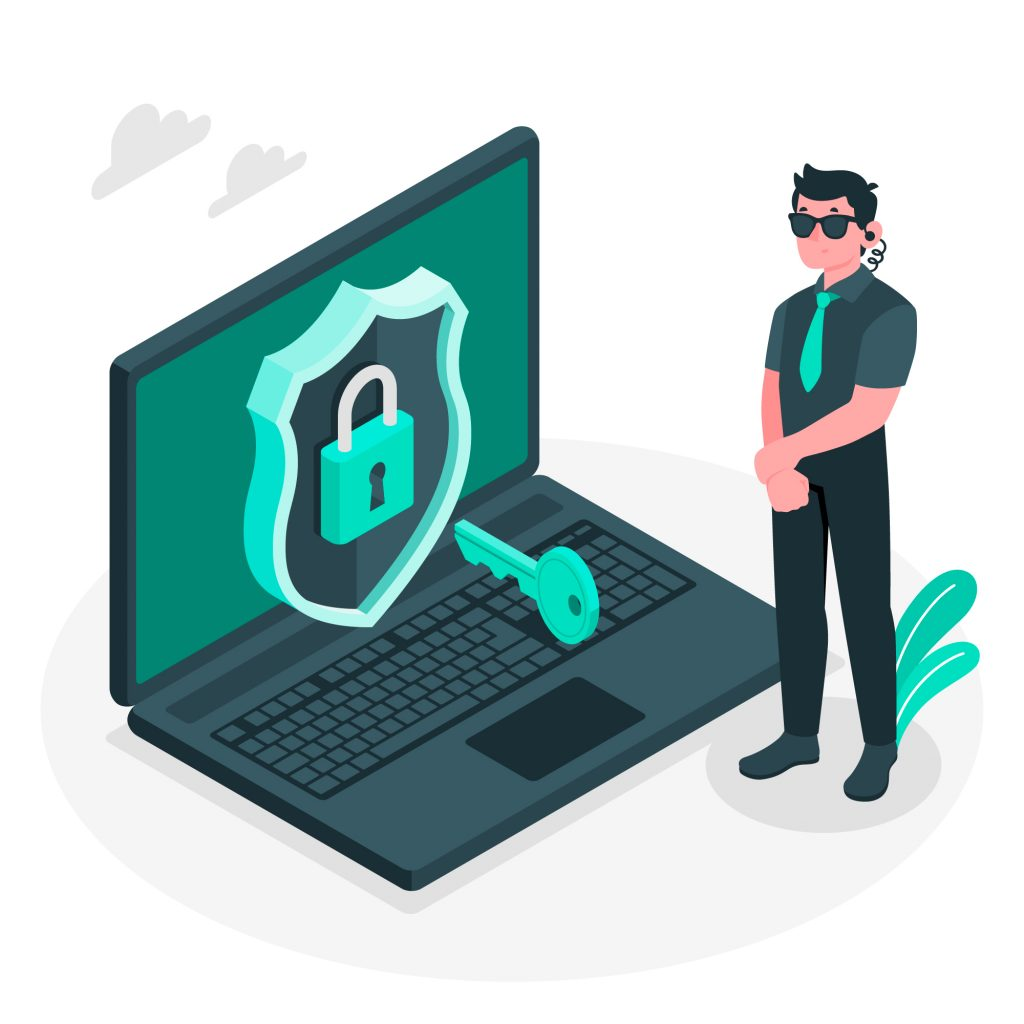 Expert Practices to Ensure Website Security Laptop Guarded with a Lock and Key