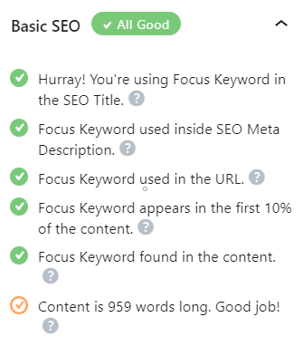 Optimize Content with Rank Math Plugin for WordPress Basic SEO