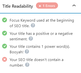 Optimize Content with Rank Math Plugin for WordPress Title Readability