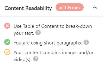 Optimize Content with Rank Math Plugin for WordPress Content Readability