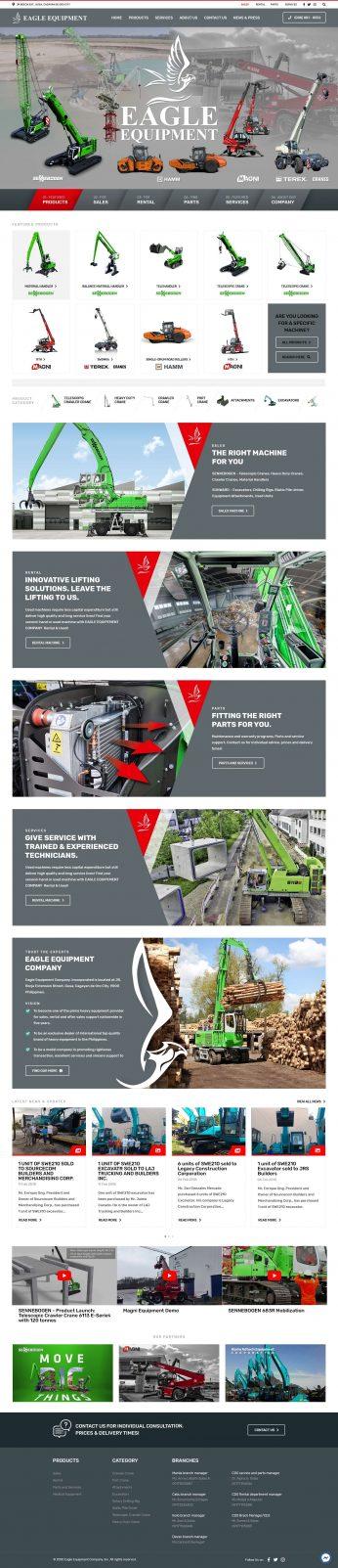 Syntactics Recent Project - Eagle Equipment Inc - Homepage