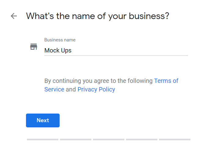 How to Set Up Your Google My Business Account 02 Enter Name of Business