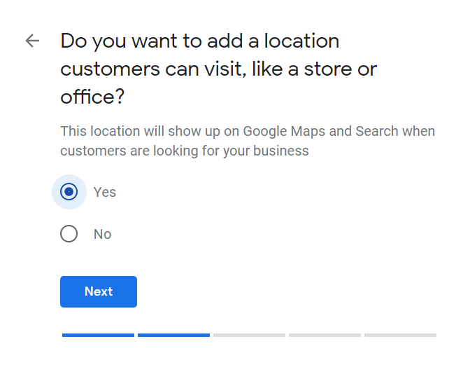 How to Set Up Your Google My Business Account 04 Choose to Show Location or Not