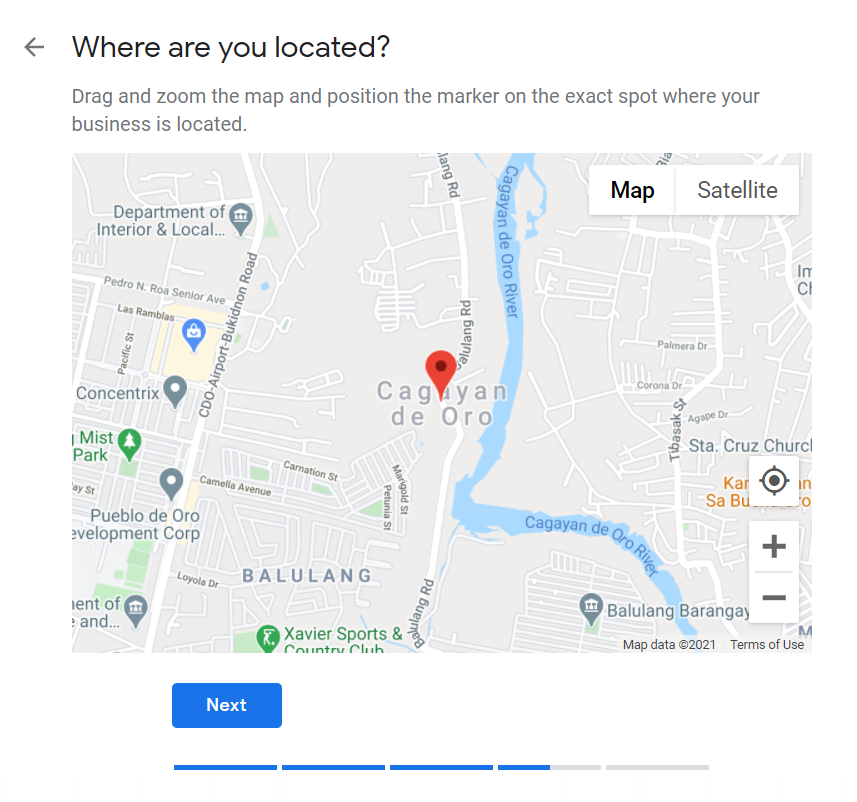 How to Set Up Your Google My Business Account 06 Pin Location on Google Maps