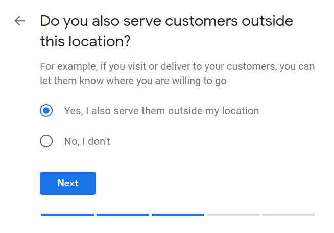 How to Set Up Your Google My Business Account 07 Choose to Serve Customers Outside Location
