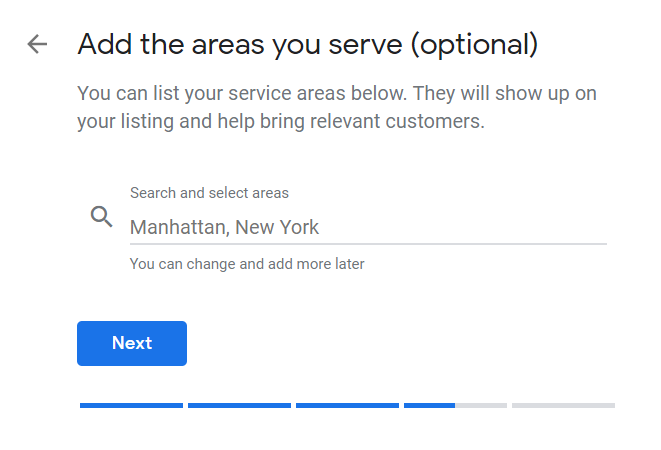 How to Set Up Your Google My Business Account 08 Enter Areas You Serve Outside Location